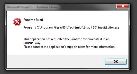Fix runtime error in windows 8