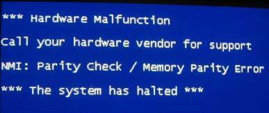NMI Hardware Failure in Windows 8