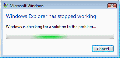 Windows Explorer Errors