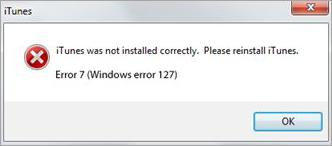 Windows error 127 - 36