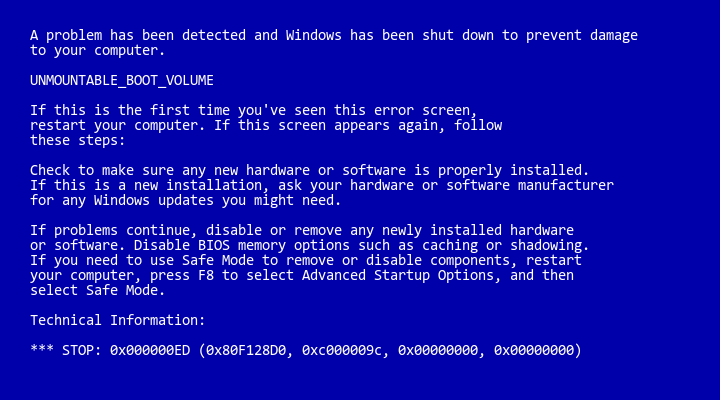 Fix Blue Screen Stop 0x050 error Windows 8