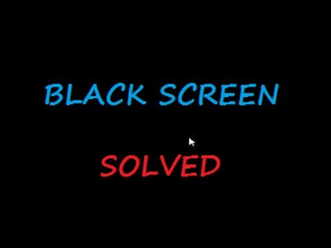 Black Screen with Cursor in Windows 8.1
