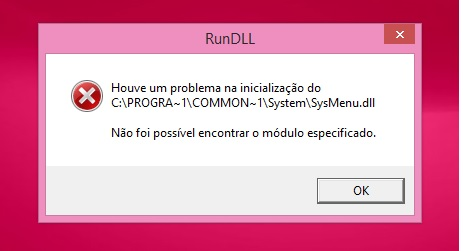 Fix Sysmenu.Dll Error After Windows 8.1 Upgrade