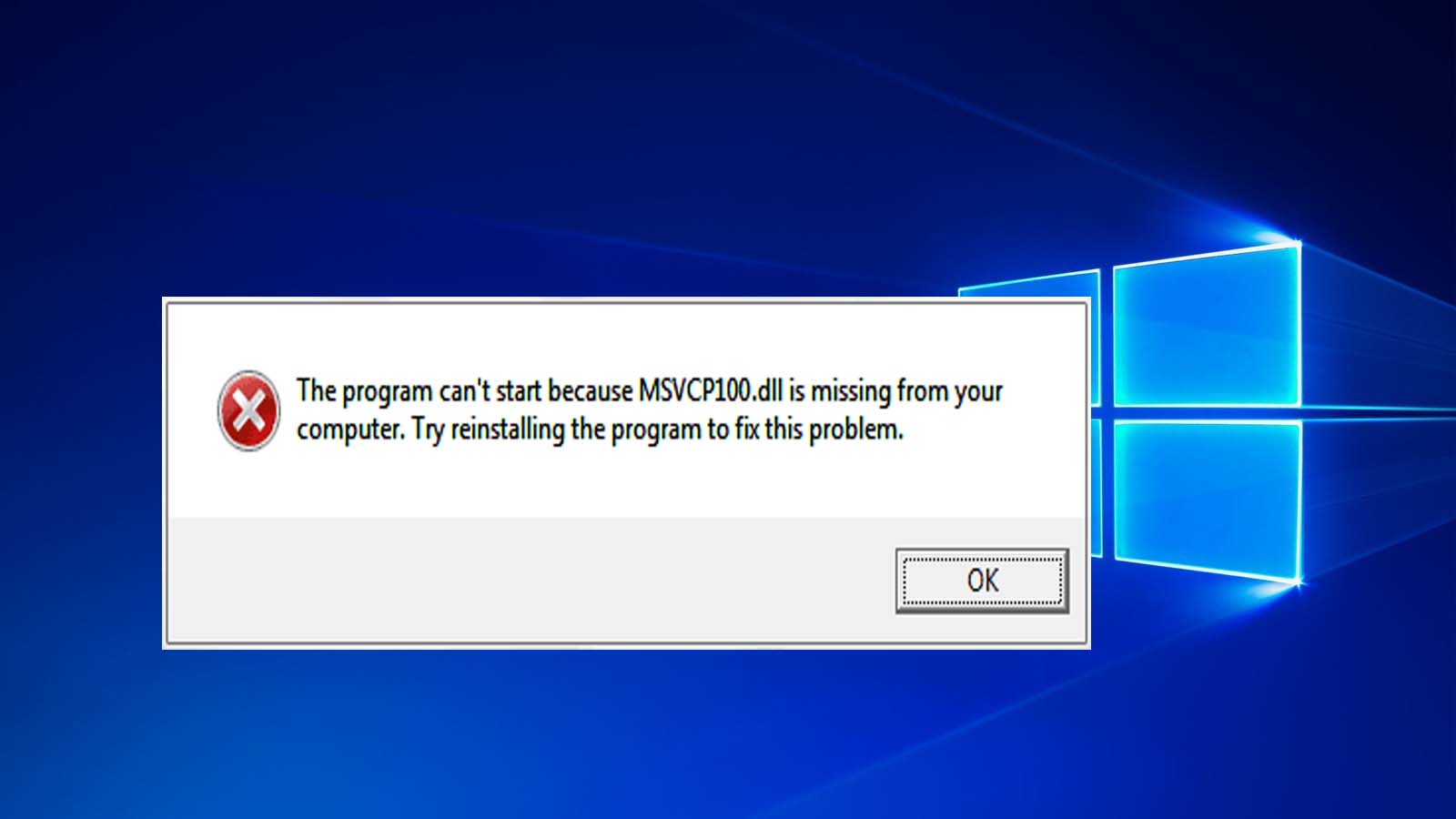 program cant start because msvcp100.dll is missing