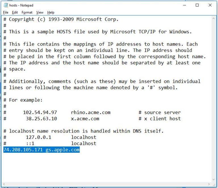 3-fix-iTunes-error-3194-by-change-host-file-on-windows-10-768x661