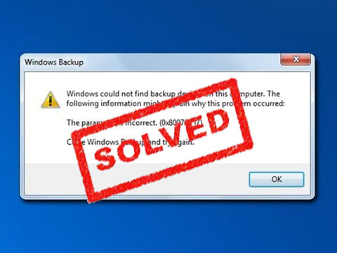 FIX ERROR0x80070057 error code