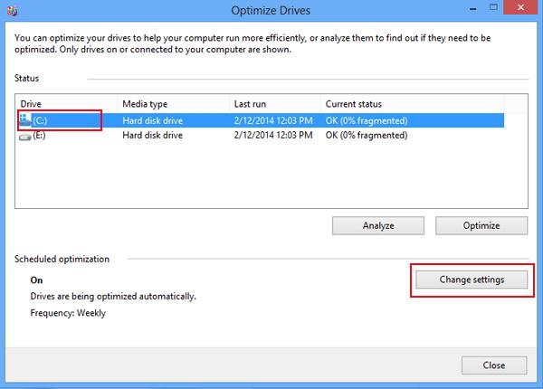 optimize drive interface