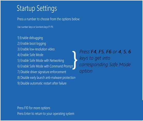 Safe Mode with Networking, windows 10 safe mode