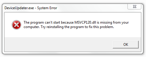 Fix MSVCP120.dll Missing Error
