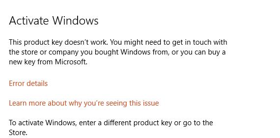 windows registration key blocked