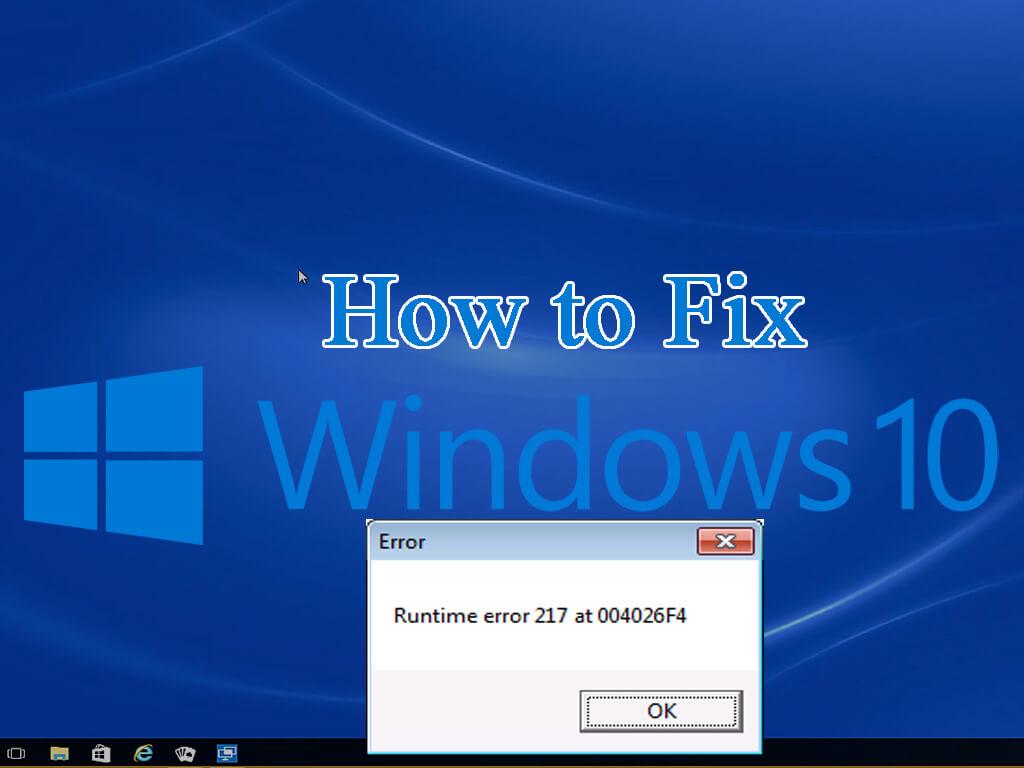 Runtime Error 217