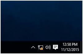 Windows 10 network icon