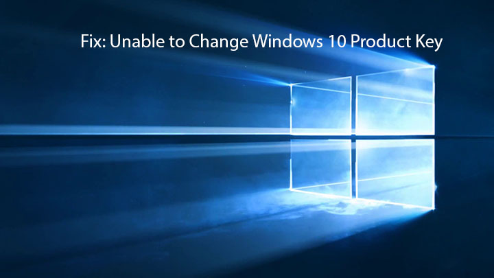 change Windows 10 product