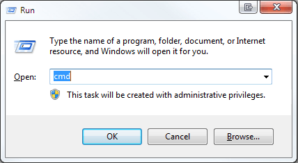 using cmd command prompt