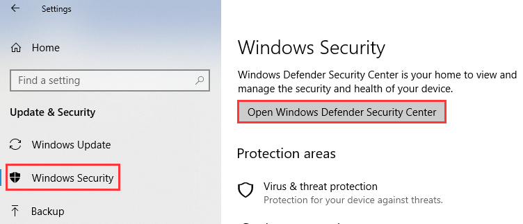 How can I disable the Windows Defender