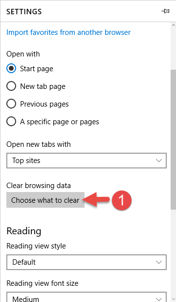 how to clear cache and cookies on microsoft edge