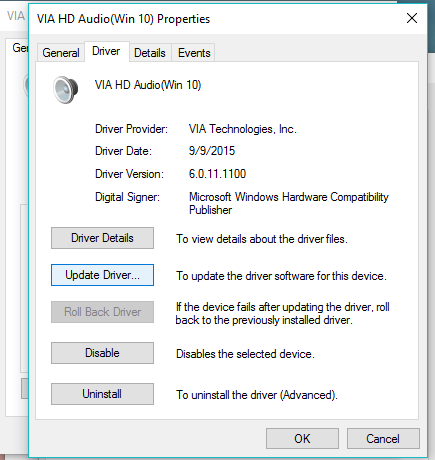 volume icon not working windows 10