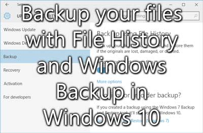 how to create backup of Windows 10 data