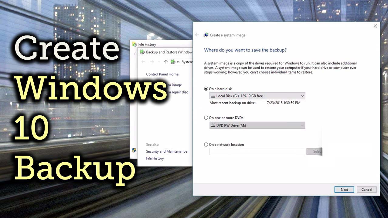 methods to make image of Windows 10