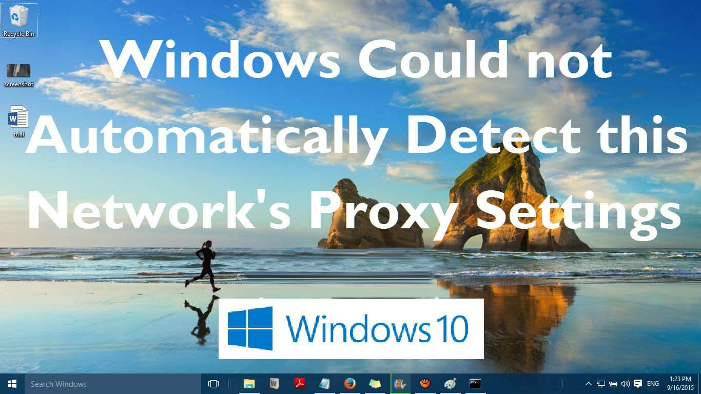 windows cannot automatically detect proxy settings