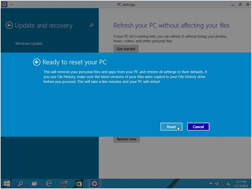 how to restore external drive after download of windows 10