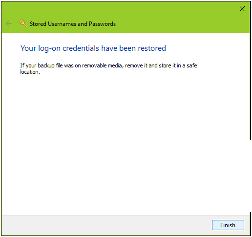 how to create a credentials pc