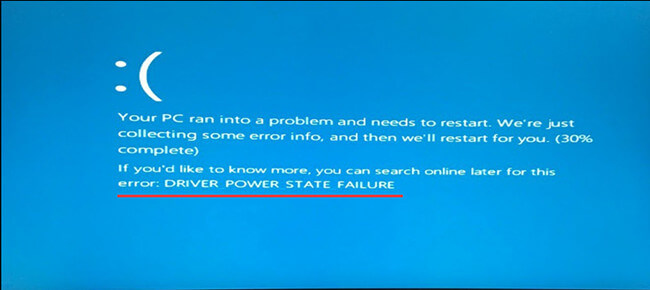 driver power state failure error