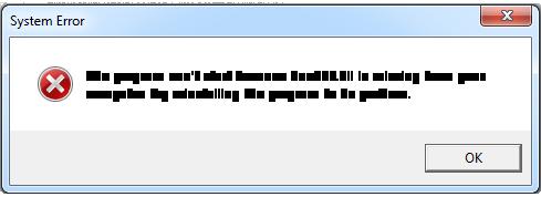 delete Dao350.dll error