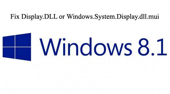 remove Display.DLL or Windows.System.Display.dll.mui