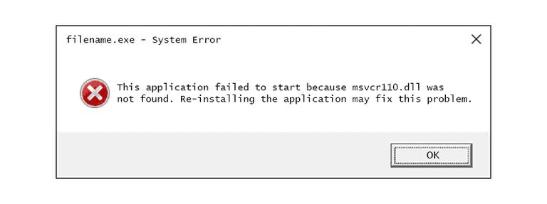 Fix Msvcr110.dll Error