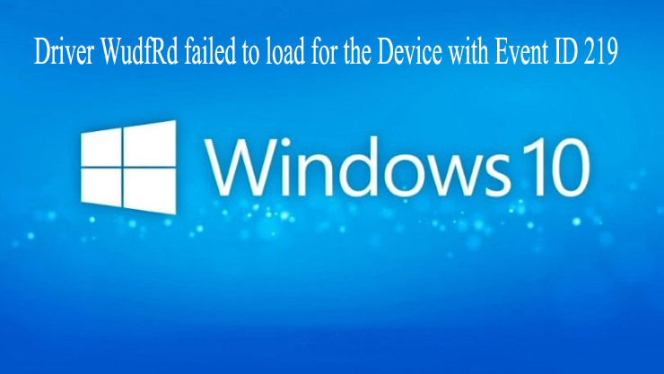 delete Driver WudfRd failed to load error