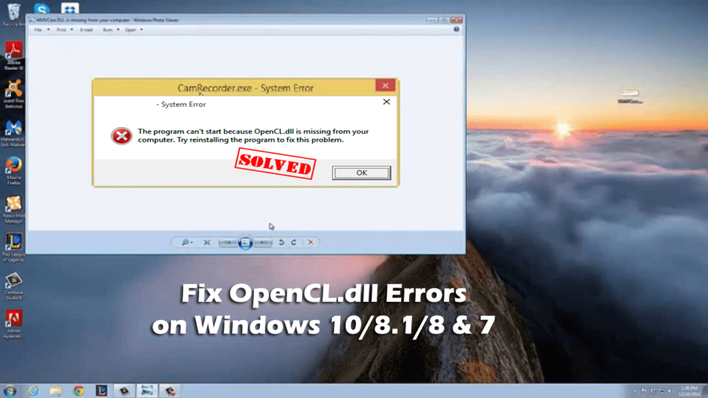 How to Fix OpenCL dll Errors on Windows 10/8 1/8 & 7