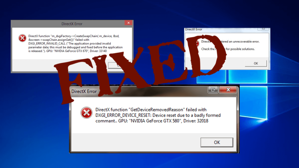 9 Working Solutions to Fix DirectX Error in Windows 10 [Updated]