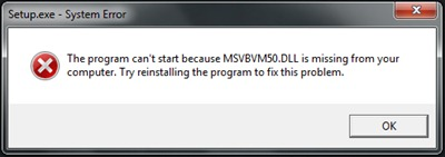 delete msvbvm50.dll is missing error
