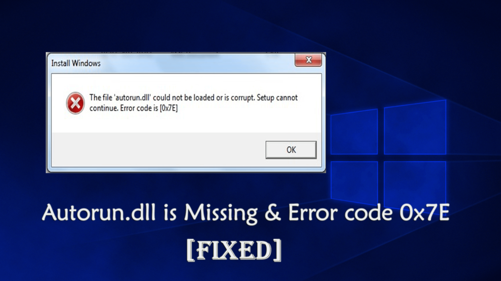 autorun.dll error code 0xc1