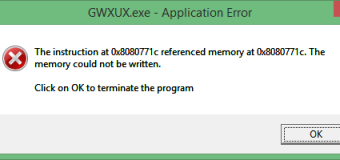 [Solved] GWXUX.exe Application Error in Windows 10