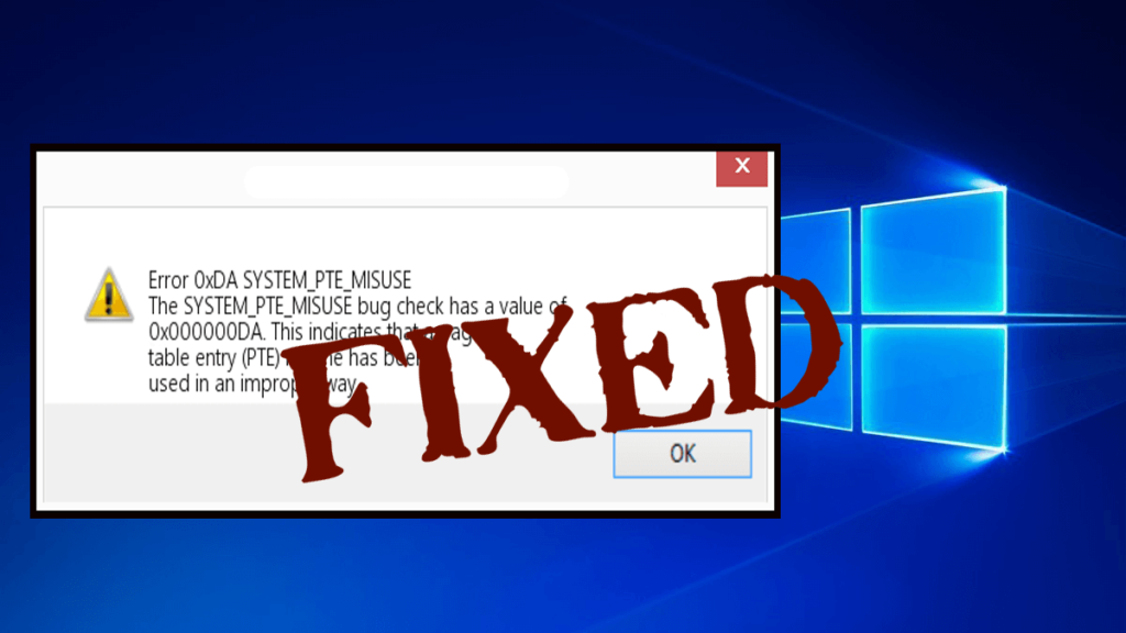 7 Working Solutions to Fix System pte misuse BSOD Error in