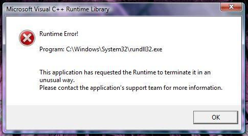 automatic way to fix rundll32.exe Error