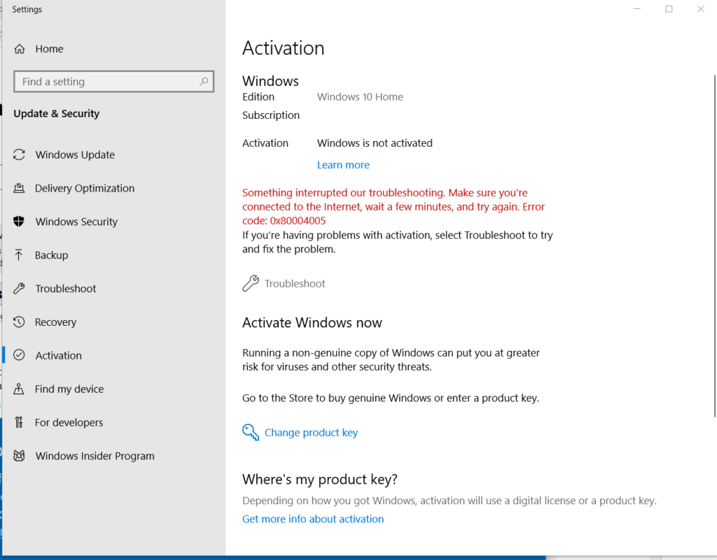 24 Most Common Windows 10 Activation Error Codes and their