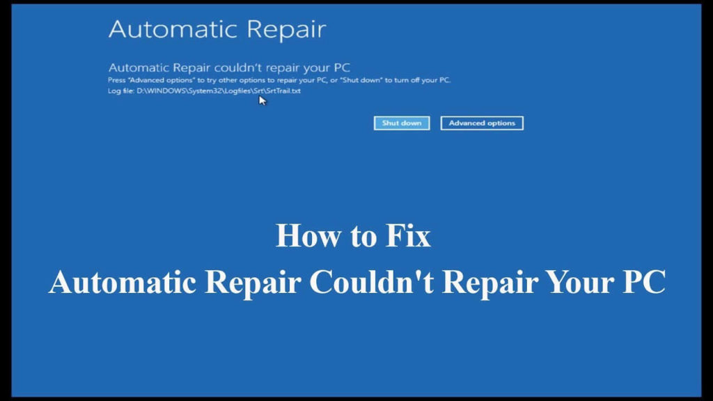 FIXED] Automatic Repair Couldn't Repair your PC in Windows 10