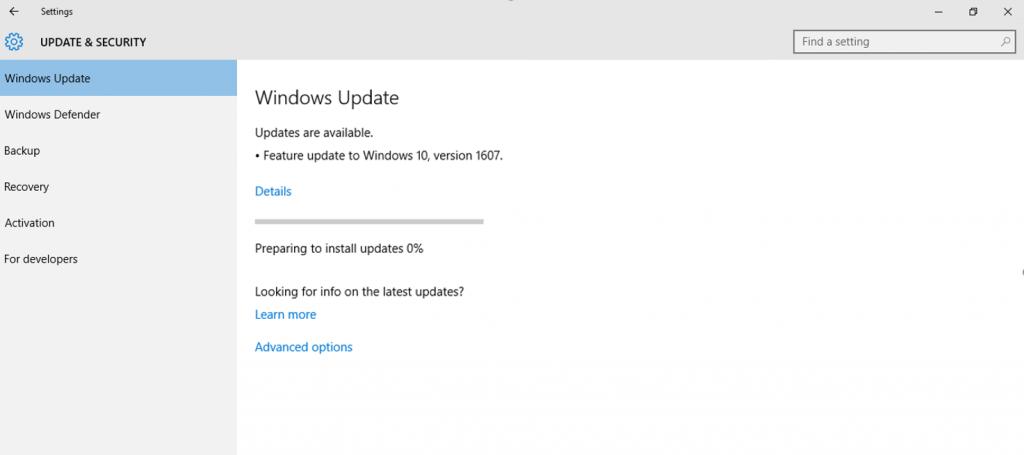 update-installing