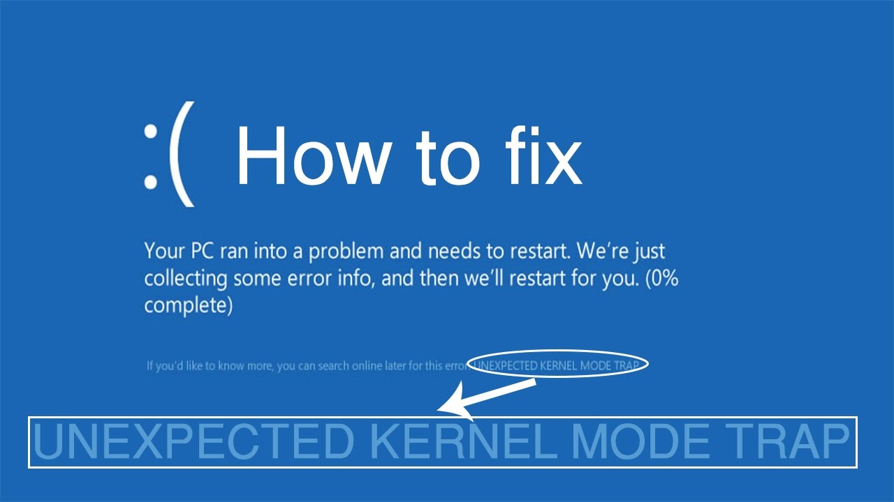 """unexpected kernel mode trap"""