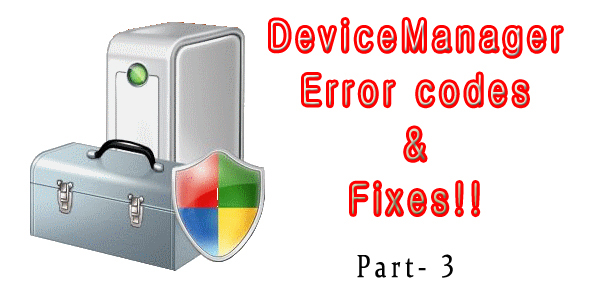 get rid of Device Manager Error