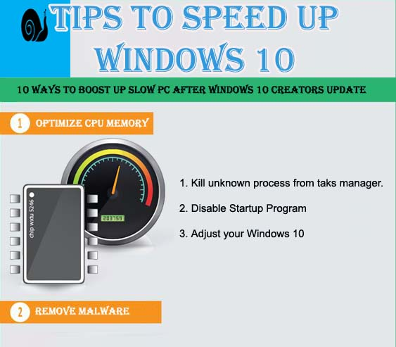 [Infographic] 10 Tips to Boost Windows 10 PC/Laptop