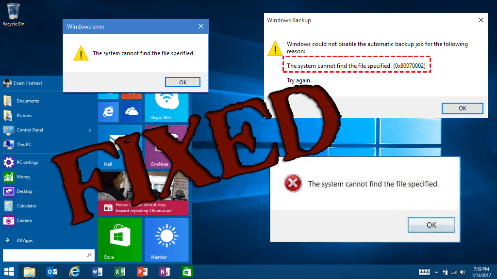FIXED] The System Cannot Find the File Specified in Windows