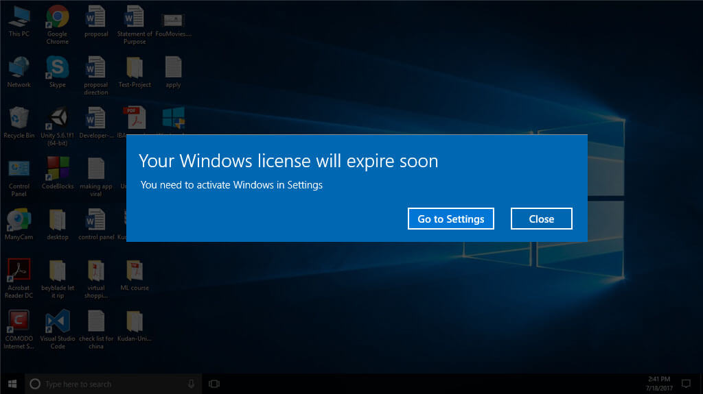 Your Windows License Will Expire Soon For Windows 10