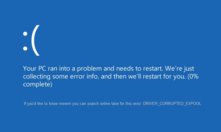 repair DRIVER_CORRUPTED_EXPOOL Error on Windows 10