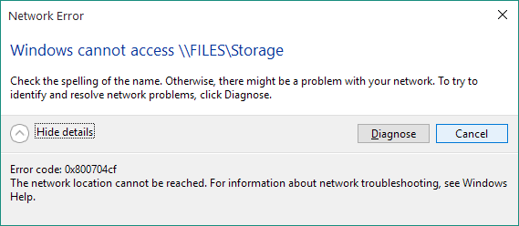[Solved] How to fix Network Error 0x800704cf on Windows 10/8.1/8?