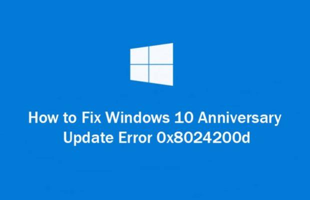 Windows 10 Update Error Code 0x8024200D