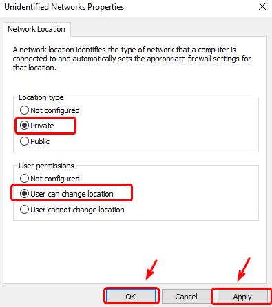 Niezidentyfikowany błąd sieciowy w systemie Windows 10